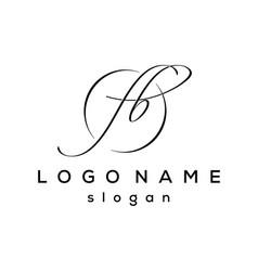 initial fb letter design logo vector image
