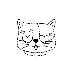 isolated cat design vector image
