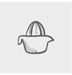Lemon squeezer sketch icon vector image