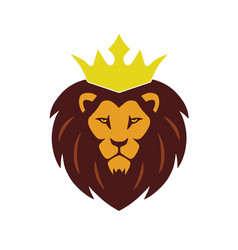 Lion king crown logo vector