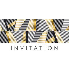luxury gold and black stripes pattern for header vector image