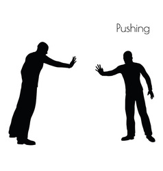 Man in Pushing Action pose vector