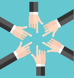 many hands responsibility concept vector image