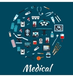 Medical infographic poster background vector image