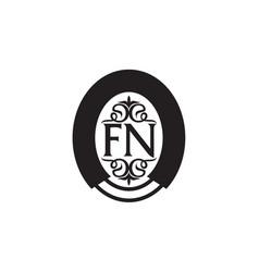 Modern solution letter fn vector