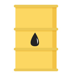 oil petroleum industry barrel with drop sign vector image