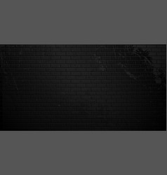 old black brick wall with cracks and smudges vector image