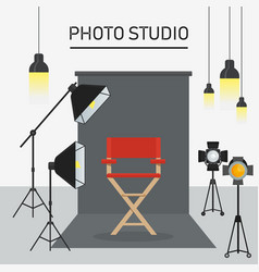 photo studio interior vector image