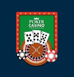 poker casino board light club gambling roulette vector image