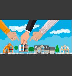 Private suburban house real estate vector