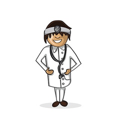 Professional doctor man cartoon figure vector