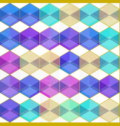 purple color mosaic seamless pattern vector image