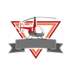 Red heli esport logo vector