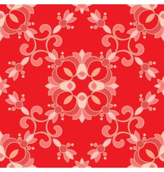 red ornament vector image