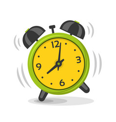 ringing alarm clock with two bells vector image