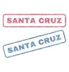 Santa cruz textile stamps vector