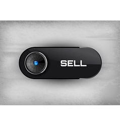 Sell Button vector image