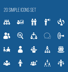 Set of 20 editable team icons includes symbols vector