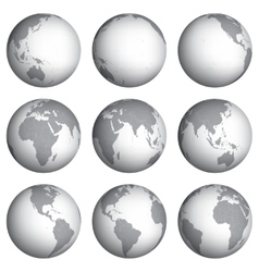 Set of globe icons vector image