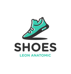 Shoe industry and shop logo vector