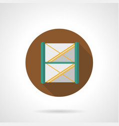 Stage frame construction flat round icon vector