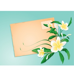 summer letter with exotic flowers vector image