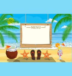 Summer seaside poster vector