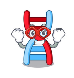Super hero dna molecule character cartoon vector
