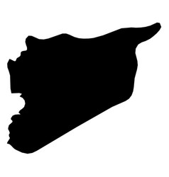 syria - solid black silhouette map of country area vector image
