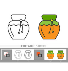 thanksgiving day honey line icon editable stroke vector image
