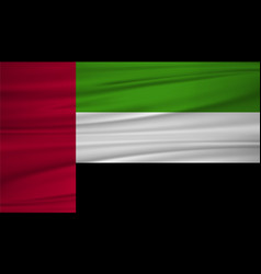united arab emirates flag flag of united arab vector image