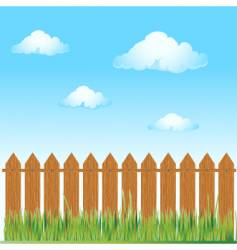Wooden fence nature vector