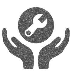 Wrench Maintenance Grainy Texture Icon vector