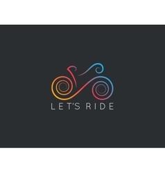 Bike Logotype of bicycle design background vector image