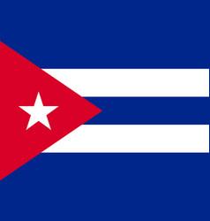 flag cuba flat icon vector image