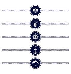 maritime emblem icon vector image