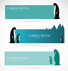 Penguin banners vector image