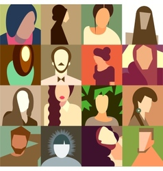 Set of various avatar faces vector image