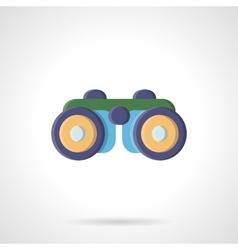 Binoculars flat color style icon vector image