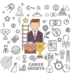 Concept career growth vector