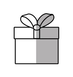 gift box ribbon give party shadow vector image vector image