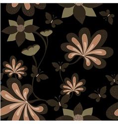Seamless dark background vector image vector image