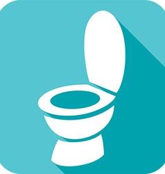 Toilet Bowl Icon vector image vector image