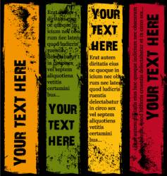vertical grunge banners summer vector image