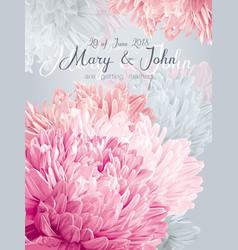 aster wedding invitation card vector image vector image