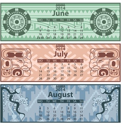 Calendar 2014 Summer vector image
