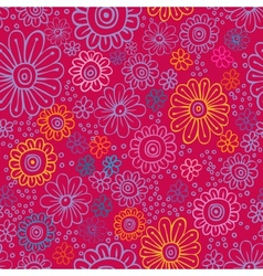 colorful flowers seamless texture vector image vector image