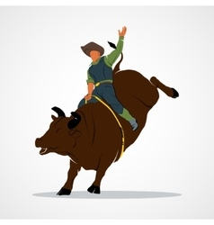 Rodeo Bull Ride vector image