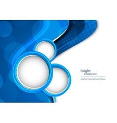 Abstract blue backgroudn with circles vector image vector image