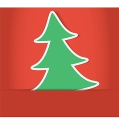 christmas tree inside of paper envelope vector image